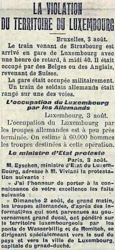 Violation du Luxembourg