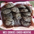 Les cookies choco-menthe de tupperware