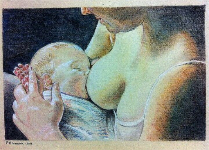 7923e01c63d1ed4a2cf5652567c1f595--baby-painting-breastfeeding-art
