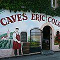 Caves eric colin baume les dames doubs fresque trompe l'oeil peinture murale humour photo