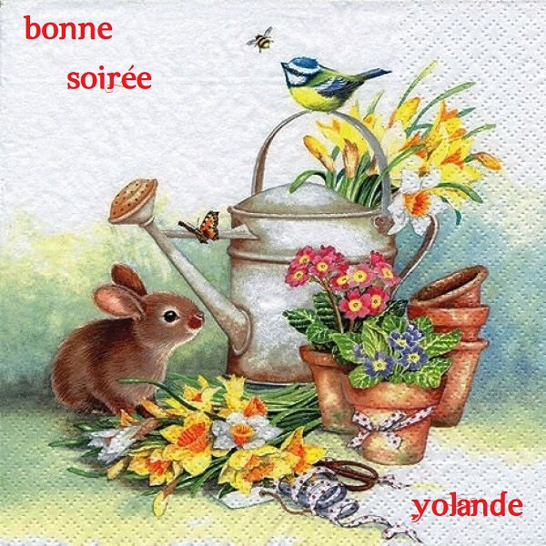 1845251-1-serviette-en-papier-fleurs-printanieres-oiseaux-lapin-1