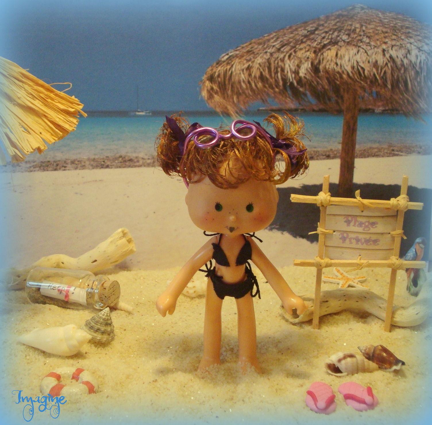 Séance bronzing à la plage