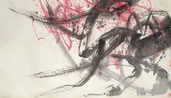 Fang Zhaolin (1914-2006) Spring Abstract Mounted