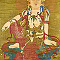 Chinese school, seated bodhisattva, qing dynasty (1644 - 1911)