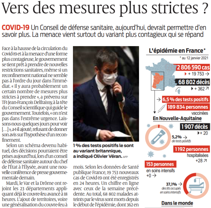 2021 01 13 SO Vers des mesures plus strictes