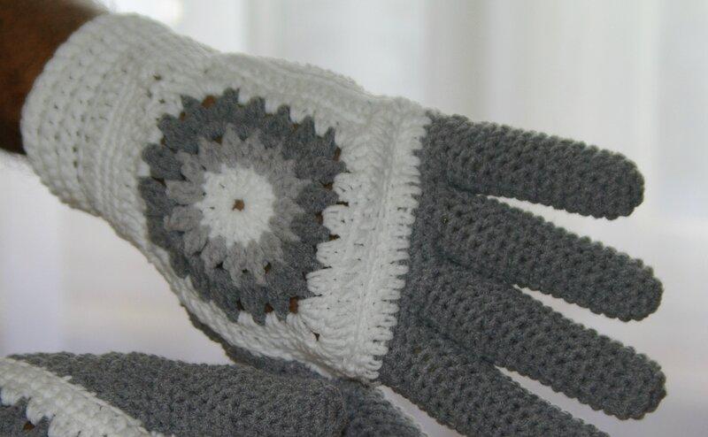 gants au crochet
