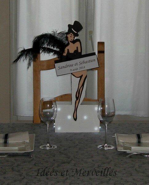 CENTRE DE TABLE CABARET noir et blanc- Idees et Merveilles