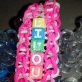 Bracelet en élastiques Prénom Lilou