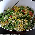 Salade aux cereales gourmandes