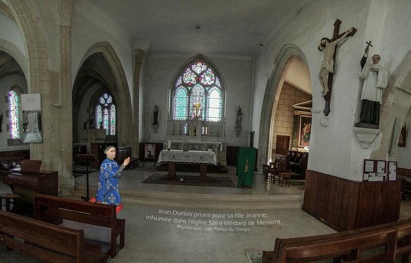 Jean Dunois priant pour sa fille Jeanne, inhumée dans l'église Saint-Médard de Mervent