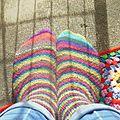 Rainbow socks ou chaussettes à 4 mains + édit