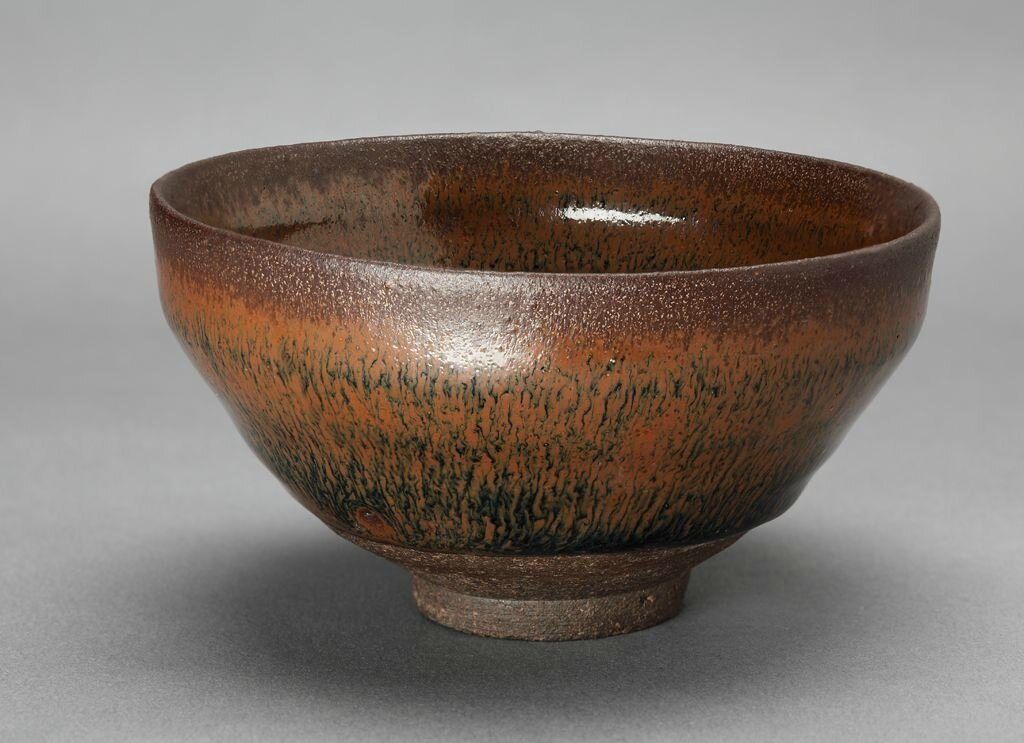 Small Tea Bowl with Rounded Sides and Russet Hare's Fur Markings, Song dynasty, 12th-13th century