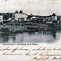 1918-07-11 - Confolens collège circulé en 1903