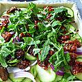 Tarte aux tomates sechees et courgettes