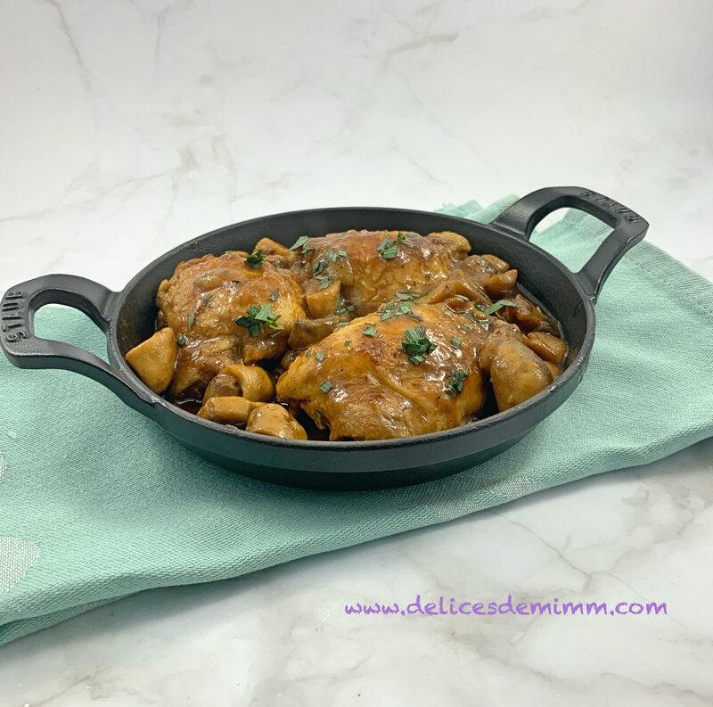 Hauts de cuisses de poulet façon chasseur (au Cookeo ou pas) 5