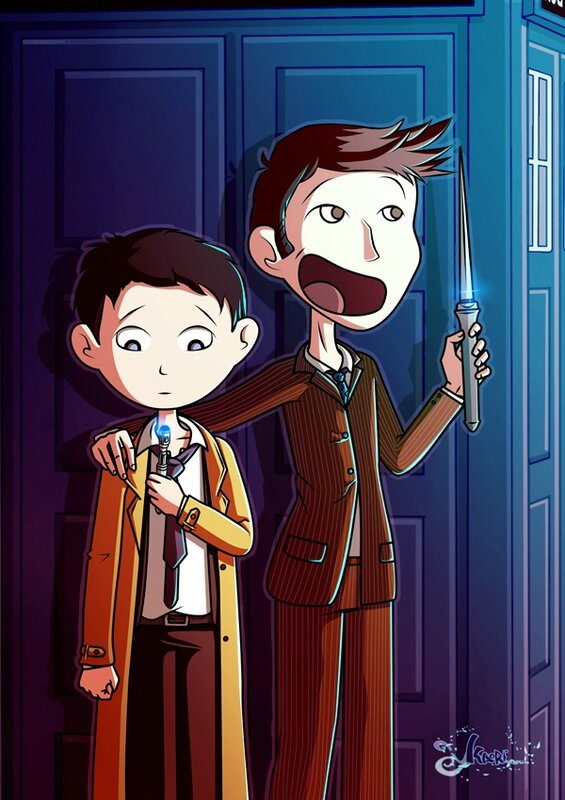 castiel and the doctor 8-6