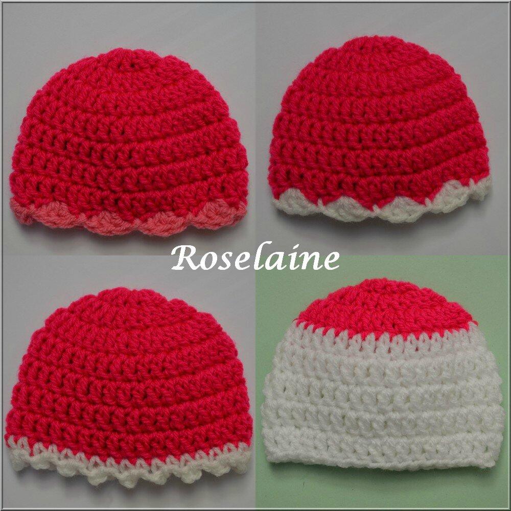 Roselaine 60 bonnets préma crochet
