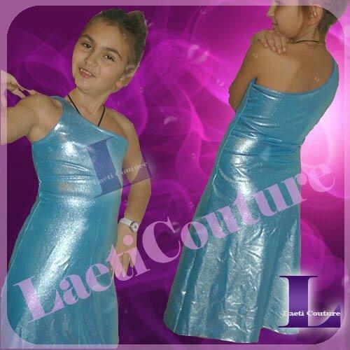 robe concours bleue