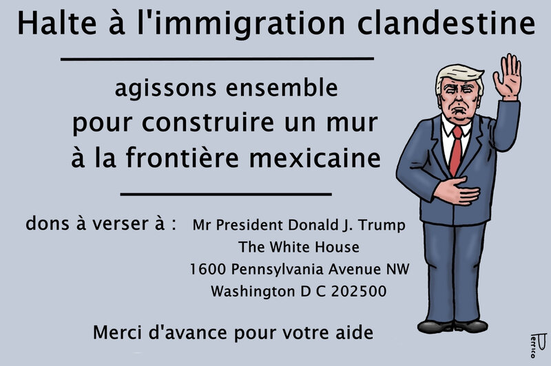 Trump - appel au don 04 janv