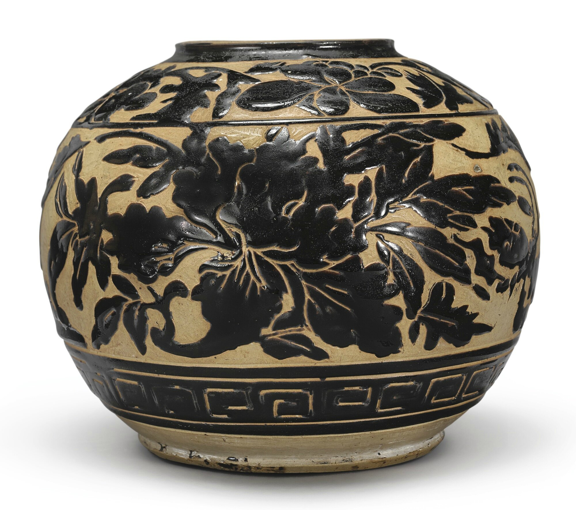 A 'Cizhou'-type cut-glaze jar, Yuan-Ming dynasty (1279-1644)