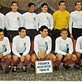 11 novembre 1964 FRANCE- NORVÈGE ... MATCH DE QUALIFICATION DE LA COUPE DU MONDE 1966