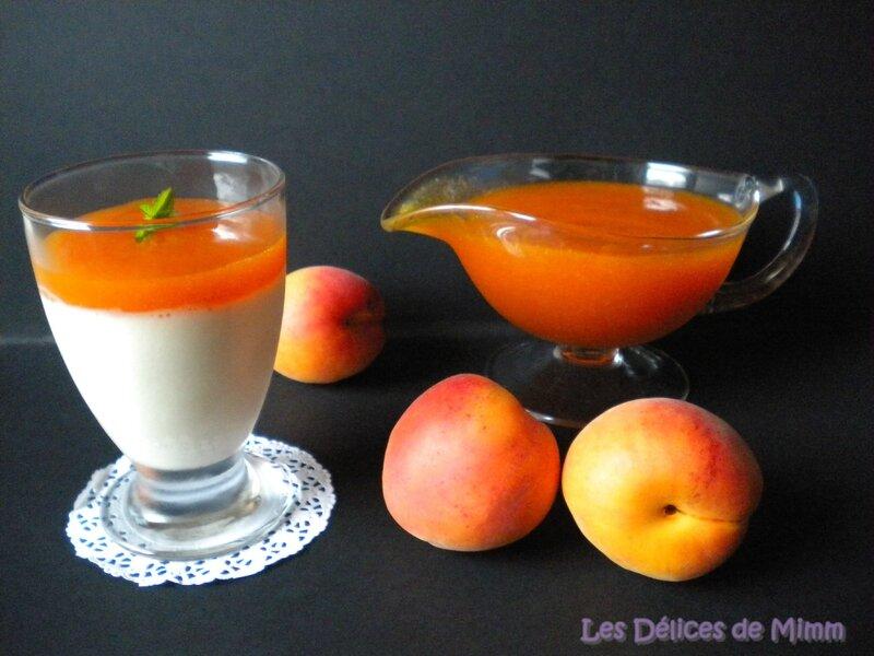 Panna cotta vanillée et son coulis d'abricots 5