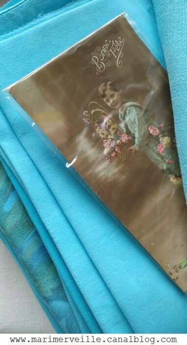 tissus teints turquoise marimerveille