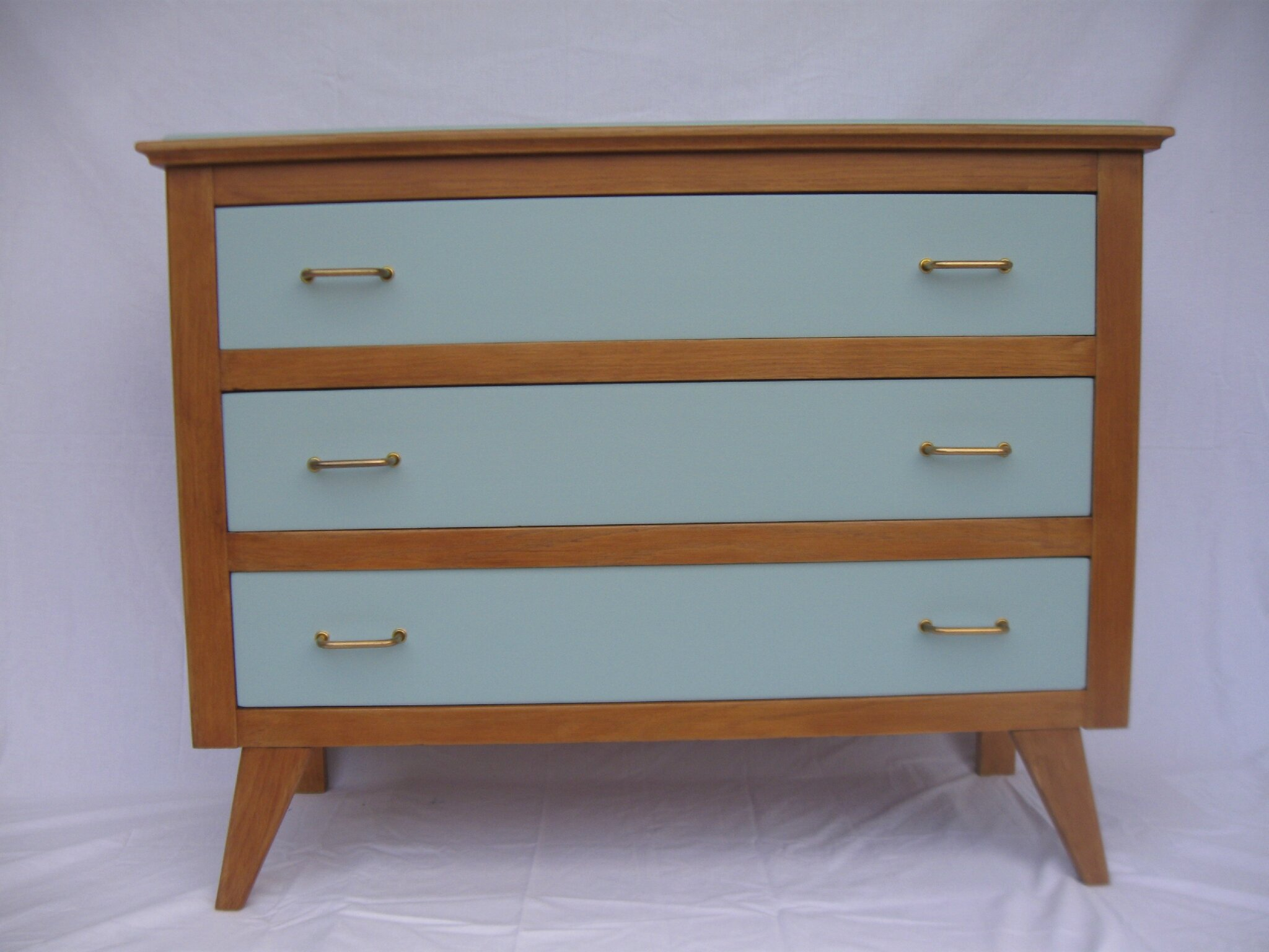 commode vintage annees 50 pieds compas relookee rserve - Commode Vintage Pieds Compas