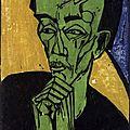 EXPRESSIONISME 1919_Portrait d'un homme_Heckel