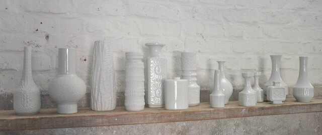 vases blancs collection