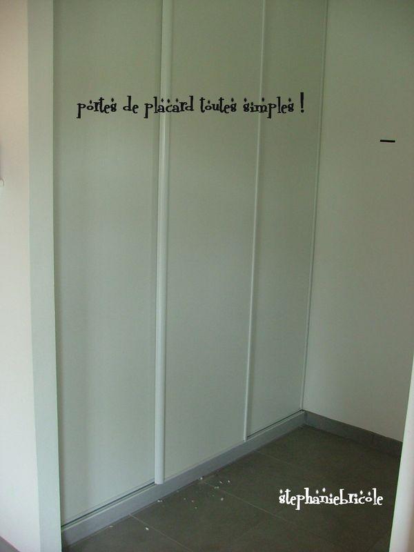 Id e d co r cup faire soi m me habiller des portes de placards st phanie bricole - Relooker une porte ...