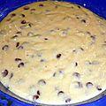 Gâteau au yaourt (sans beurre) aux pépites de chocolat