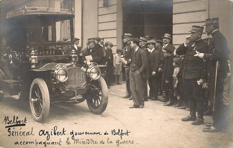 1913 04 23 Belfort CPhoto Visite Etienne Ministre guerre R