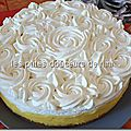 Entremet citron chantilly