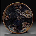 A Cizhou-type russet-splashed black-glazed bowl, Jin dynasty, 12th-13th century (2)