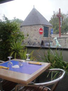 Au Perroquet Bleu Terrasse (1) J&W