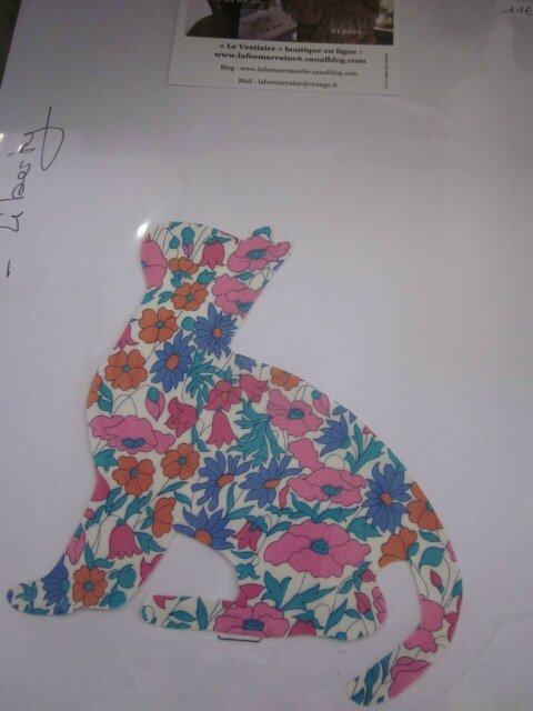 Appliqué thermocollant FELIX THE CAT Liberty fleuri bleu et rose taille XL + explications et conseils d'entretien