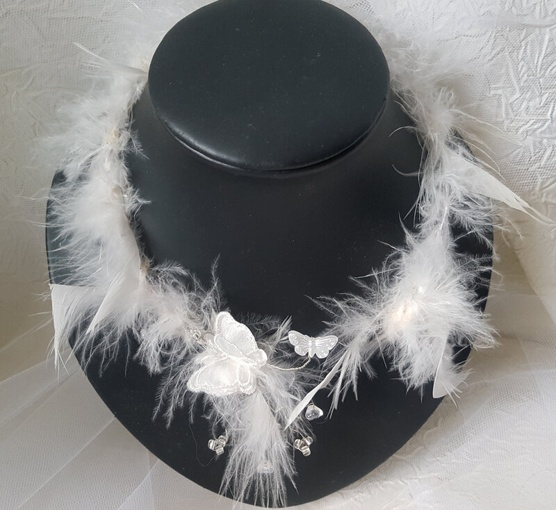 Collier mariage plumes (21)