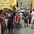 Dimanche soir, clôture du Chemin des z'Arts devant L'escope
