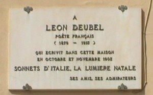 Plaque Léon Deubel à Fiesole Italie