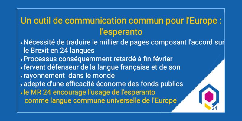 Un outil de communication commun pour l'Europe