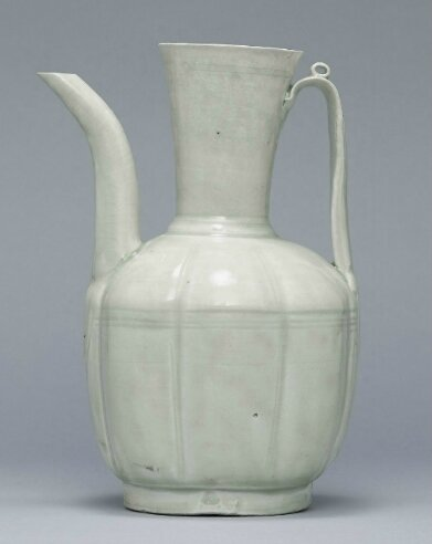 A Qingbai lobed ewer, Southern Song-Yuan Dynasty (1127-1368)
