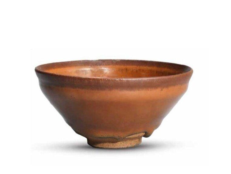 A Jian persimon-glazed tea bowl, Southern Song-Jin dynasty (1127-1279)
