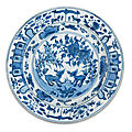 A blue and white 'qilin' dish, ming dynasty, wanli period (1573-1620)