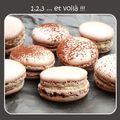 macarons chocolat et café