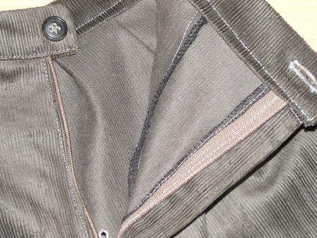 Pantalon Burda 9781 velours vert-gris 007