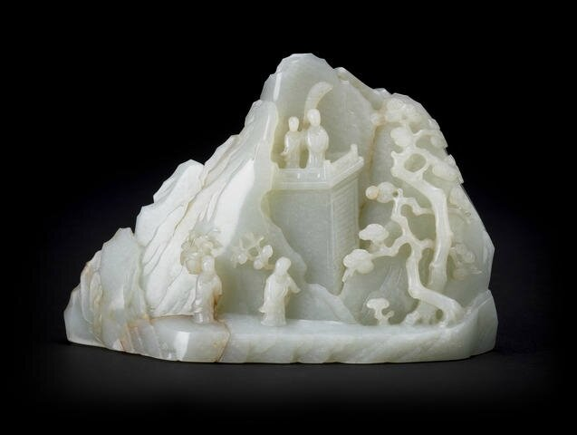 A white jade mountain, Late 19th-Early 20th century