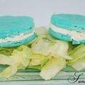 Macaron bleu à la brandade de morue coudène