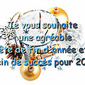 Je vous souhaite une agréable fête de fin d'année