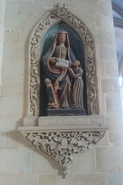 400px-Église_Saint_Pierre_de_Coutances_(nov_2011)_-_Sainte_Anne_et_la_Vierge_au_donateur